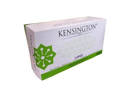 Kensington1975 Latex Gloves Powder Free Non-Textured Kensington