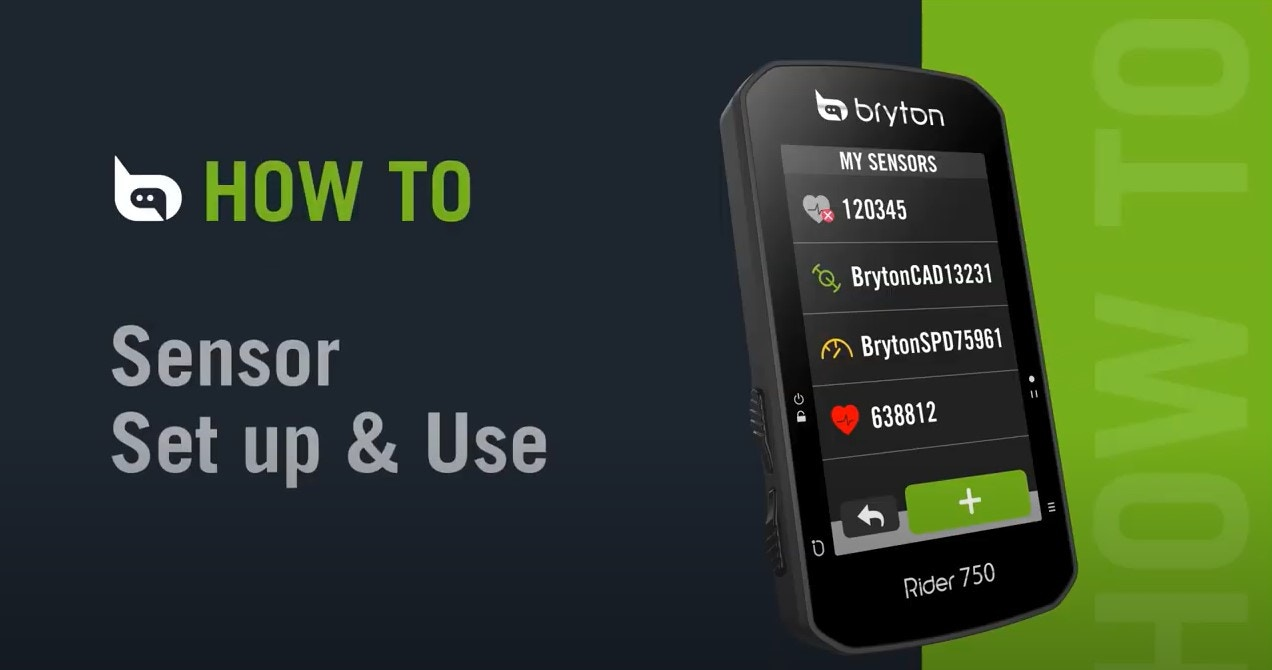 Bryton Rider 750   Sensor Set Up & Use