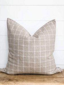 Cushion Cover - Linen Check