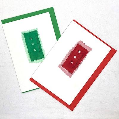 Karhina Seasonal Twinkle Twinkle Greeting Card - Red or Green