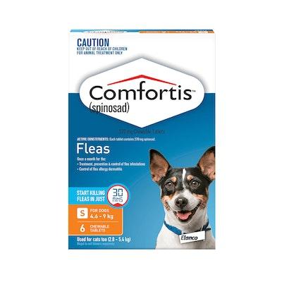 Comfortis Orange Flea Tablets 4.6-9kg Dog