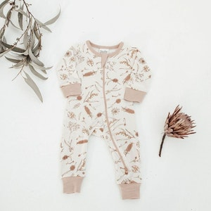 On Chic Baby Clothes GOTS Certified Organic Romper - Native Flora