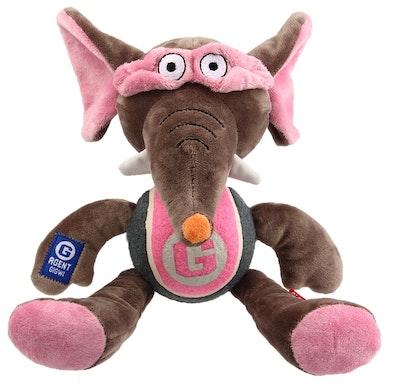 GIGWI Agent Elephant Plush With Tennis Ball