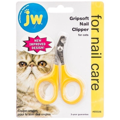 Gripsoft Cat Nail Clipper Stainless Steel Rubber Trimmer
