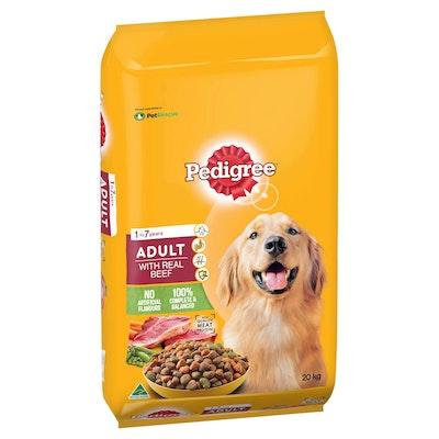 Pedigree Real Beef Dry Dog Food 20kg