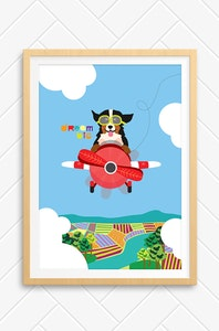 'Dream Big - Red' Unframed Print - A4 Size / New