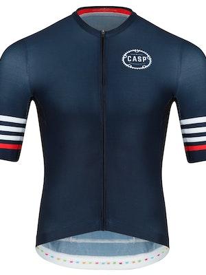 Casp Performance Cycling Mix n Stripes Jersey Navy