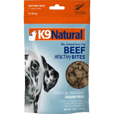 K9 Natural Beef Healthy Bites Dog Treats 50G
