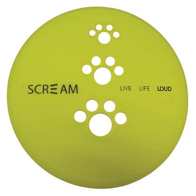 ScreamPet Scream Silicone Pet Flyer Dog Toy Loud Green - 2 Sizes