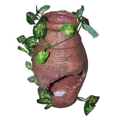 URS Ornament Broken Pot Narrow Vase Reptile Accessory