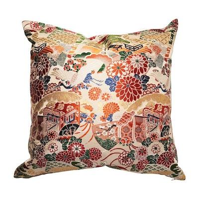 Shokunin Store japanese vintage silk cushion covers (velvet back cover)
