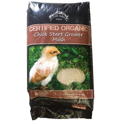 Country Heritage Organic Chick Starter Grower Poultry Mash Feed 20kg