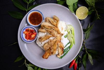 Zen Tea Lounge Vegan Hainan Chicken