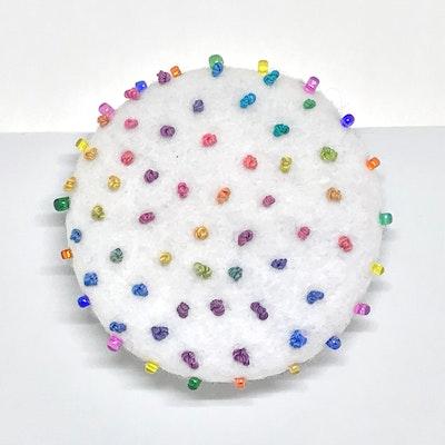 Karhina Hundreds & Thousands Confetti Brooch - 5cm
