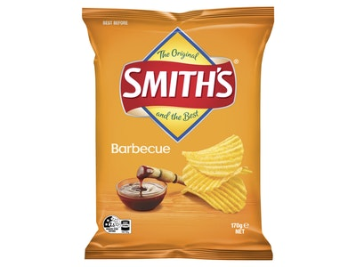 Smith's Crinkle Cut Barbecue Potato Chips 170g