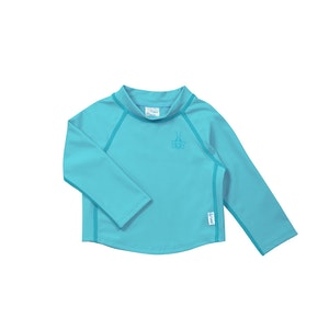 green sprouts Long Sleeve Rashguard Shirt-Aqua