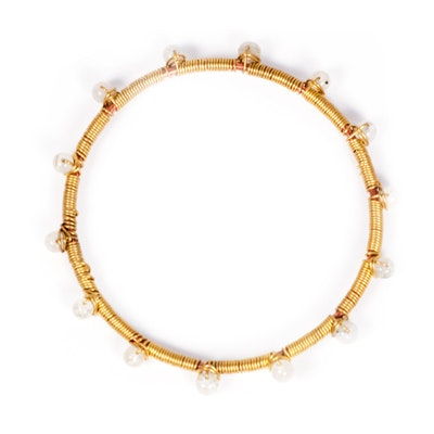 Global Sisters Shop Wire Dot Bangle - Pearly