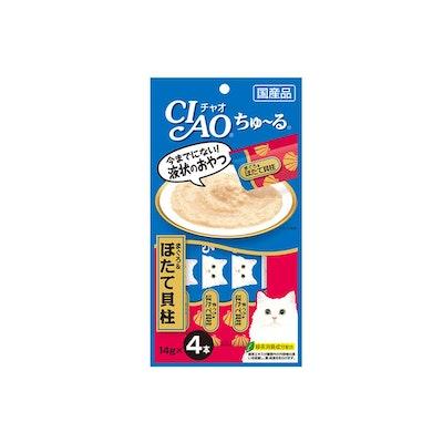 INABA CIAO Churu Puree Cat Wet Treat White Meat Tuna Scallop 14g x 4pc