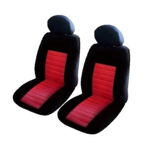 Universal Ice Mesh Front Seat Covers Size 30/35 | Red