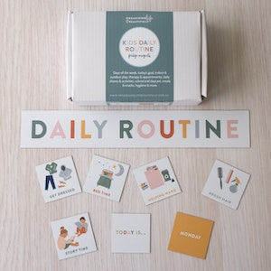 Kids Daily Routine Magnets   visual activity and task guide