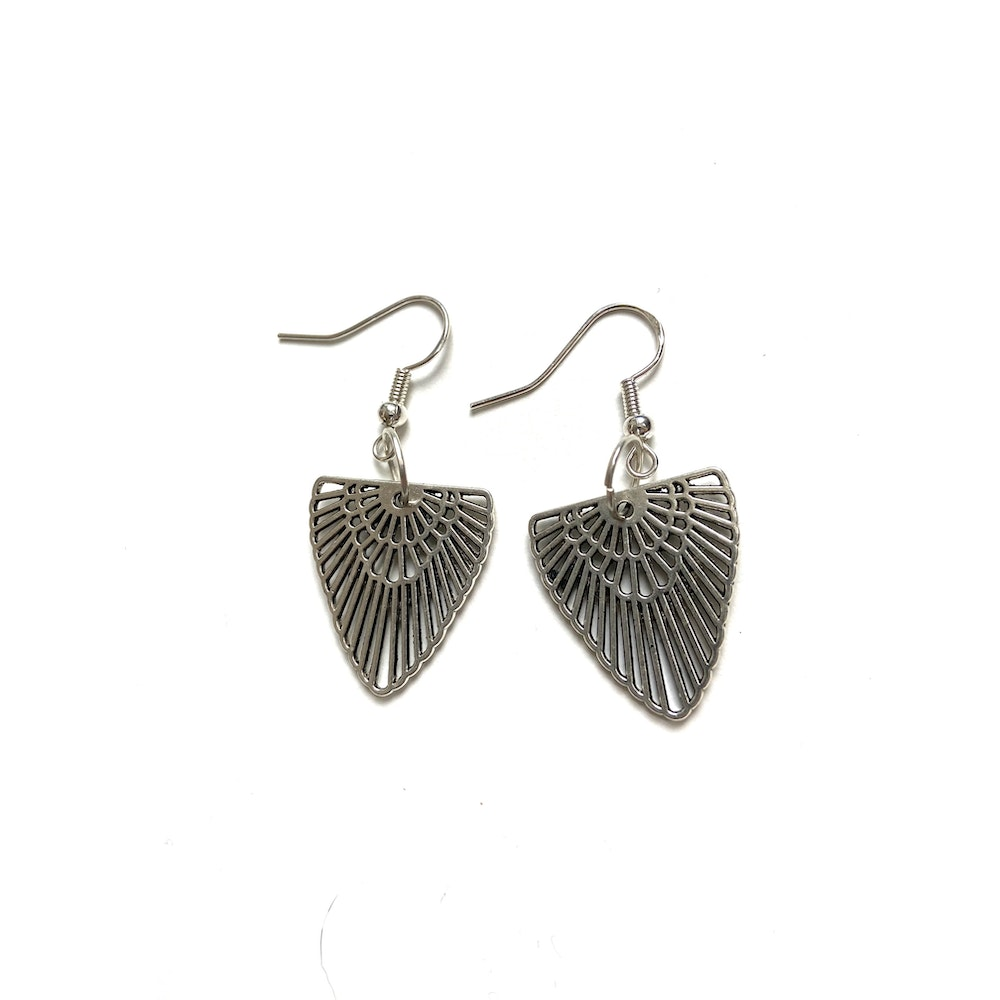 One of a Kind Club Egyptian Inspired Silver Earrings