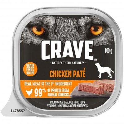 CRAVE Adult Chicken Pate Wet Dog Food 100G