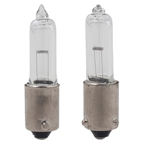 2 x BAY9S Long Clear Bulbs