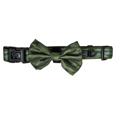 Big & Little Dogs Camouflaged Collar & Bow Tie