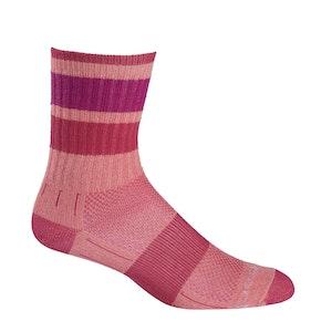 Wrightsock Blister-free Kids Escape - Crew Socks - Pink Stripes