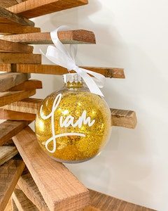 Personalised Christmas Bauble-Christmas Font