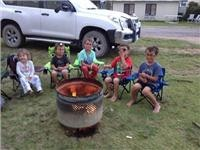 Campfire marshmallows Merimbula Holiday Park.