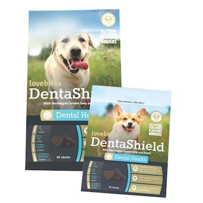Vetafarm Lovebites Denta Shield Dog Dental Chew Treat - 2 Sizes