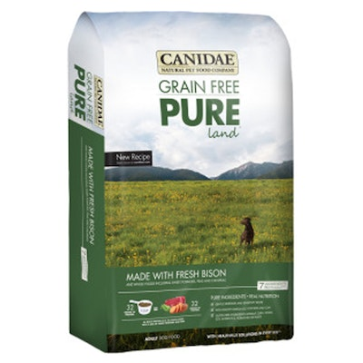 Canidae Adult Grain Free Pure Land Dry Dog Food Fresh Bison - 5 Sizes