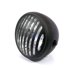 "Prison Grill Side Mount Motorcycle Headlight - 7.7"""