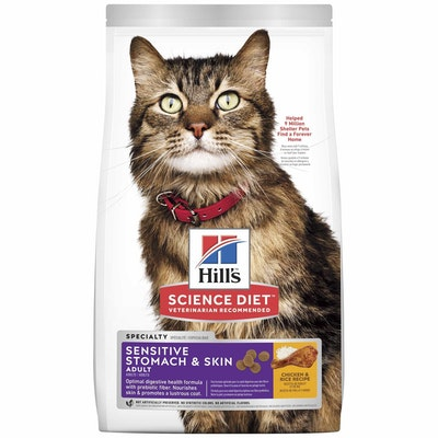 Hills Hill's Science Diet Sensitive Stomach & Skin Adult Chicken Dry Cat Food