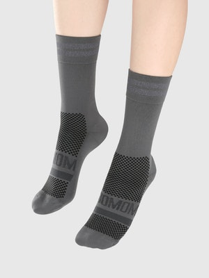 Soomom Reflective Chic Logo Cycling Socks - Grey
