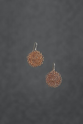PAMdesigned Small Copper made with recycled wire - Pam Earrings 2021