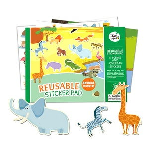 JarMelo REUSABLE STICKER PAD SET - ANIMAL WORLD