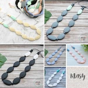 Marli & Me™ RUBY silicone necklaces