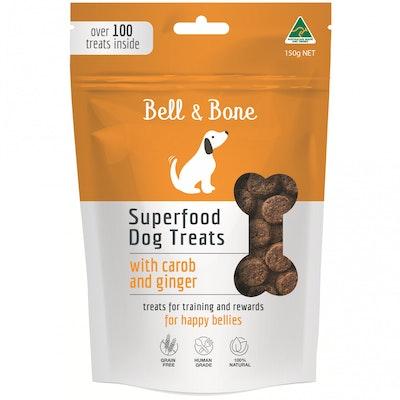 BELL & BONE Carob & Ginger Superfood Dog Treats 150G