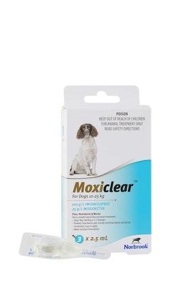 MOXICLEAR Flea & Worming Spot Treatment 10-25kg Dog 3 Pack