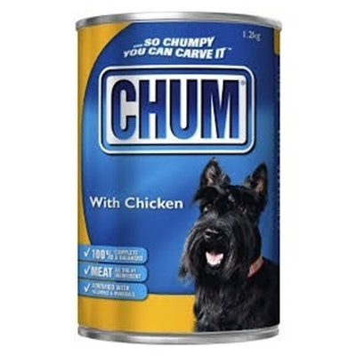 Chum With Chicken Flavour Adult Dog Food 1.2kg x 12