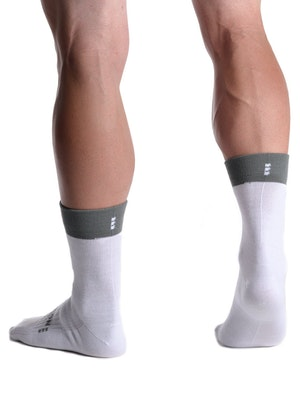 OnceUpon A Ride MERINO+ WHITE Socks