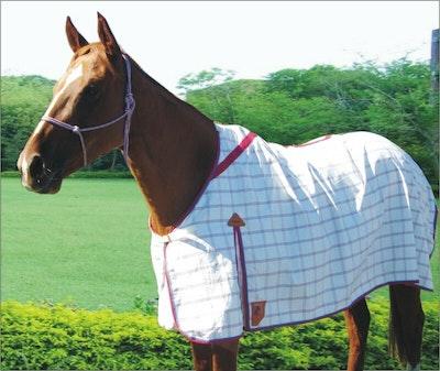 Capriole Equestrian Deluxe Rose & Aqua Summer Rug