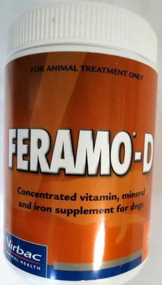 Virbac Feramo D Vitamin and Mineral Supplement for Dogs - 3 Sizes