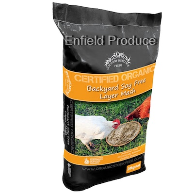 Country Heritage Organic Backyard Soy Free Layer Mash Poultry Feed 20kg