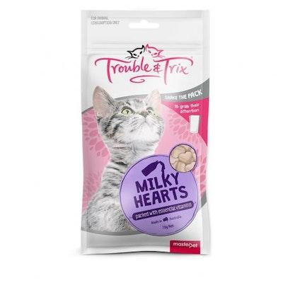 Trouble N Trix Trouble & Trix Milky Heart Cat Treats 70G