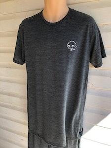 Men's Short Sleeve Pyjama Top   100% Merino Wool Charcoal