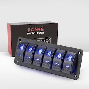 Vic Off Road 6 Gang Rocker Switch Panel