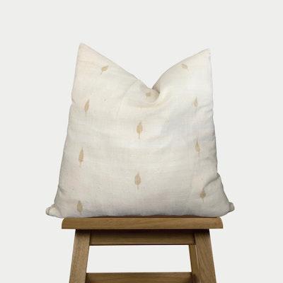 SATTVA WORLD Vanilla Throw Pillow cover- White Beige Ivory Cotton Cushion Cover -Hand-spun Handwoven Decorative Pillow Case - Australia 2021